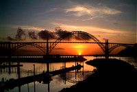 Yaquina Bay Bridge Sunset