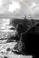 Cape Arago Lighthouse B&W