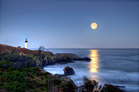 Full Moon at Yaquina Head