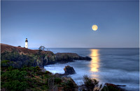 Full Moon over Yaquina Head